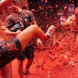 La Tomatina: A Spanish Water Balloon Fight, with Tomatoes