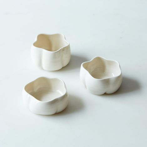 Porcelain Tea Light Holders (Set of 3)