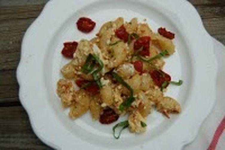 Oven Roasted Tomatoes, Fresh Ricotta + Basil Pasta