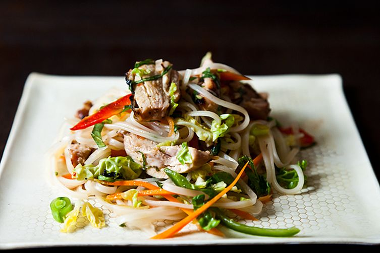 Spicy Grilled Chicken Salad with Noodles Recipe on Food52