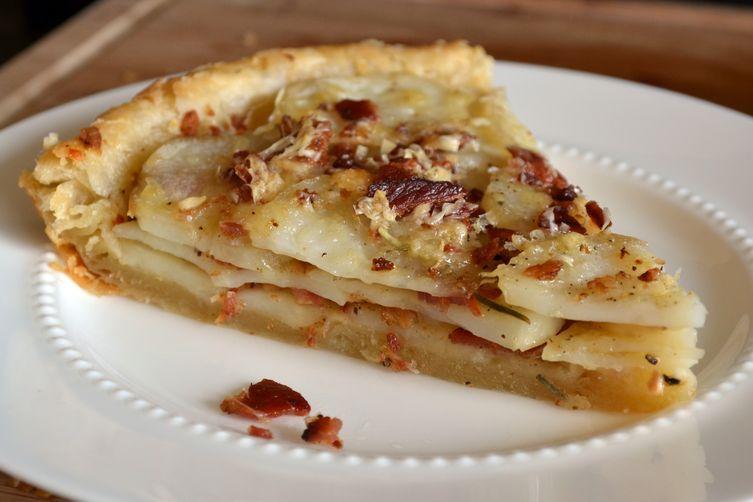 Potato Tart with Gruyere, Bacon, and Rosemary