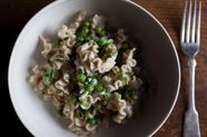 Pasta with Spring Vegetables, Bathed in Cream