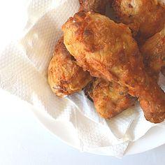 Easy Crispy Oven Fried Chicken ~ Made w/ Greek Yogurt & Olive Oil