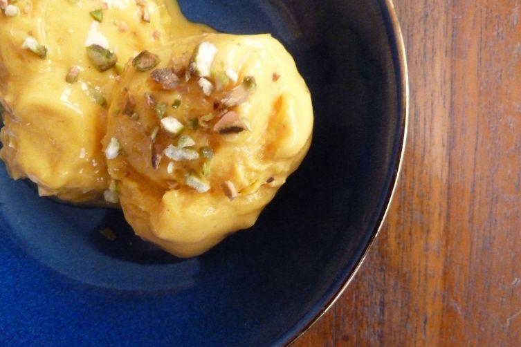 Frozen Ginger-Mango Lassi