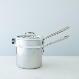 All-Clad Stainless Double Boiler with Porcelain Insert & Lid
