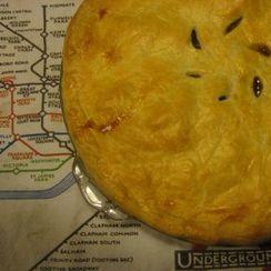 Savory sausage and potato pie