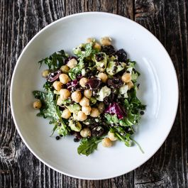 Chickpea and Lentil Salad with Shallot White Wine Vinaigrette