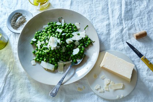 Pea Salad with Parmesan and Mint