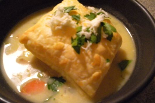 Pot Pie Soup with a Little Warmth (or a big kick!)