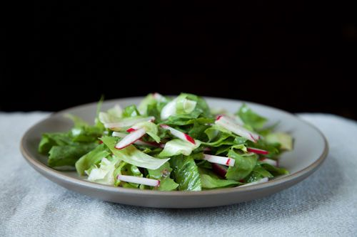 Radish and escarole salad from Food52