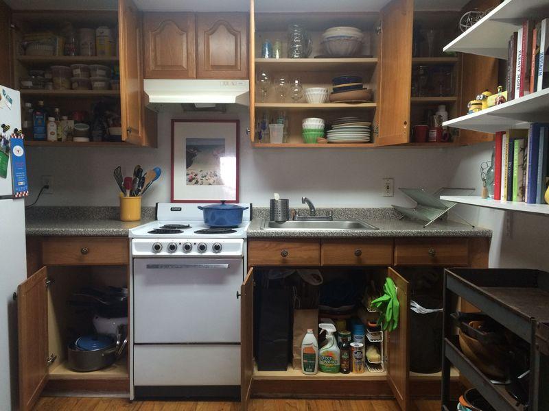A little bit Sixth Sense, a lotta bit tidy. (No, I haven't Kondo-ed the fridge decorations.)