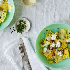 Marinated Zucchini, Kalamata Olive, & Mozzarella Salad