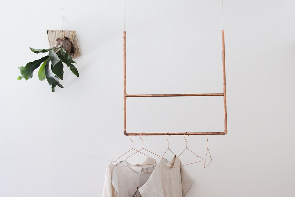 A DIY Copper Clothing Rack