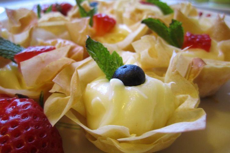 Lemon Cheesecake Phyllo Cups