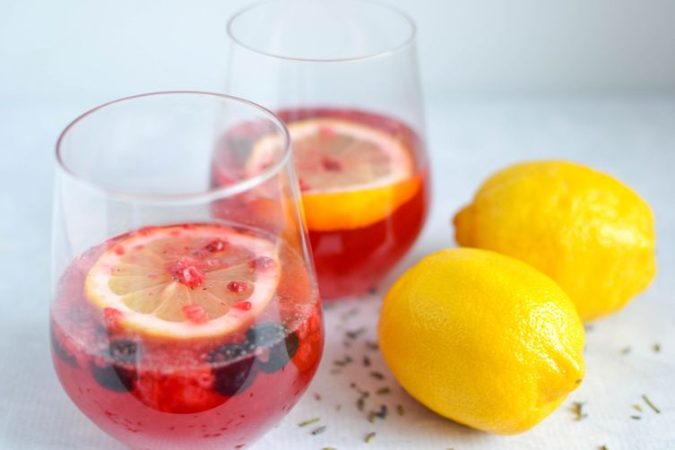 Healthy Berry Lavender Lemonade
