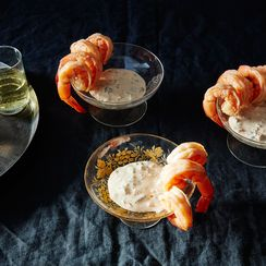 Spicy Boiled Shrimp Cocktail with Smoky Remoulade