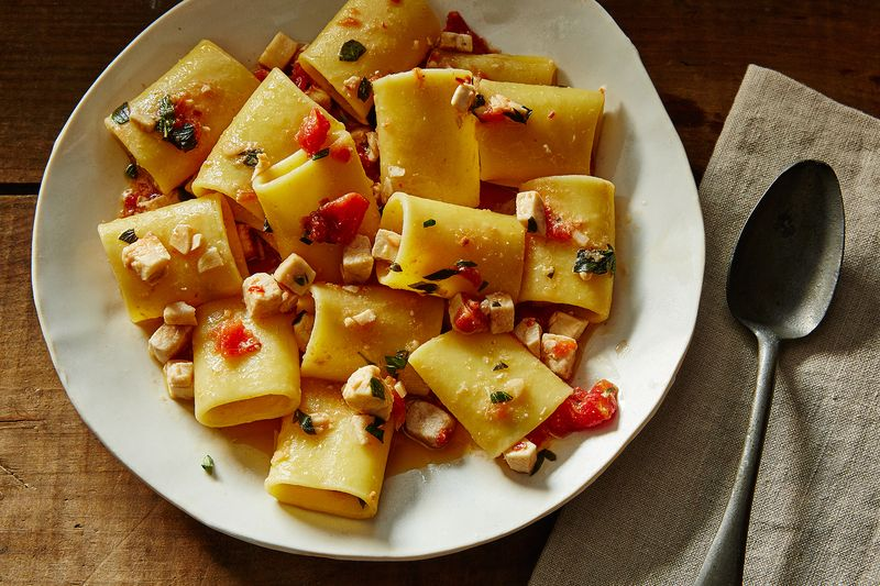 Paccheri with Swordfish Ragu