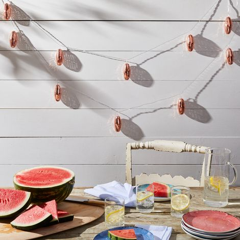 Copper & Silver Solar String Light