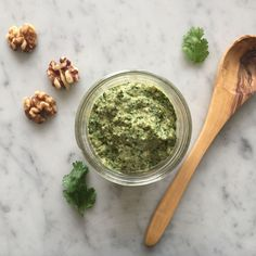 Roasted Poblano Walnut Pesto