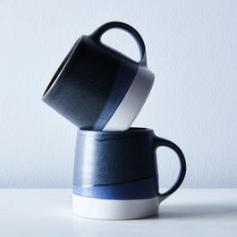 Color-Dipped Japanese Mugs (Set of 2)