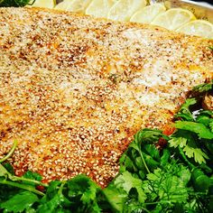 Sesame Crusted Baked Salmon