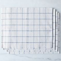 Food52 Blue Windowpane Table Linens