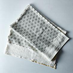 Geometric Woven Linen Throw