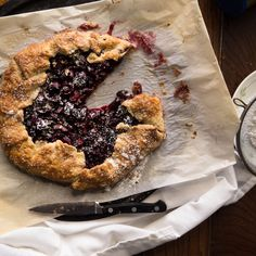 Rustic Balsamic Cherry & Basil Galette