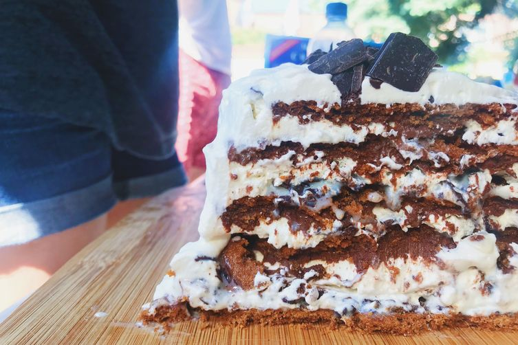 Vietnamese Iced Coffee Ice Box Cake
