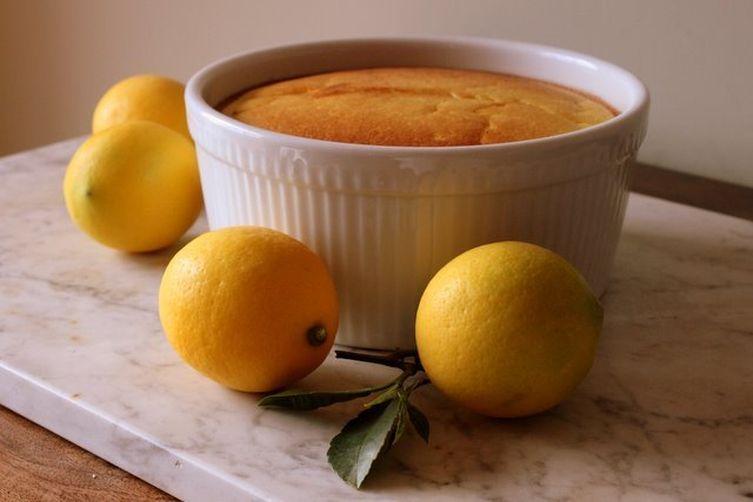 Lemon Cardamom Soufflé