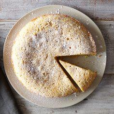 Lemon Lavender Polenta Cake
