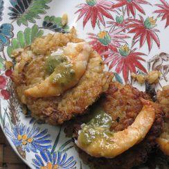 Thai Lemongrass Coconut Rice Cakes with Jade Shrimp