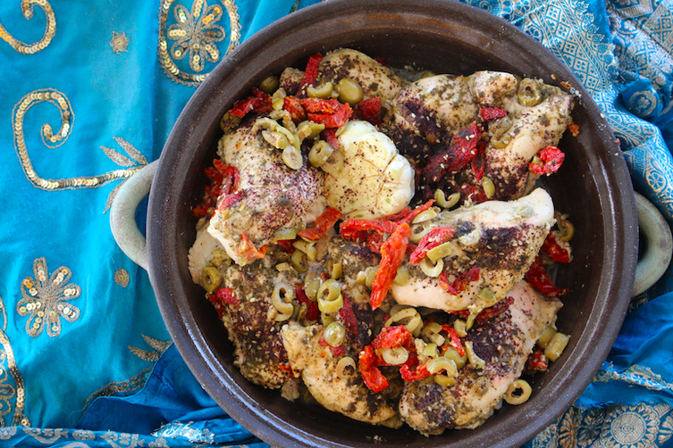 Zaatar Chicken Breast with Tomatoes and Olives