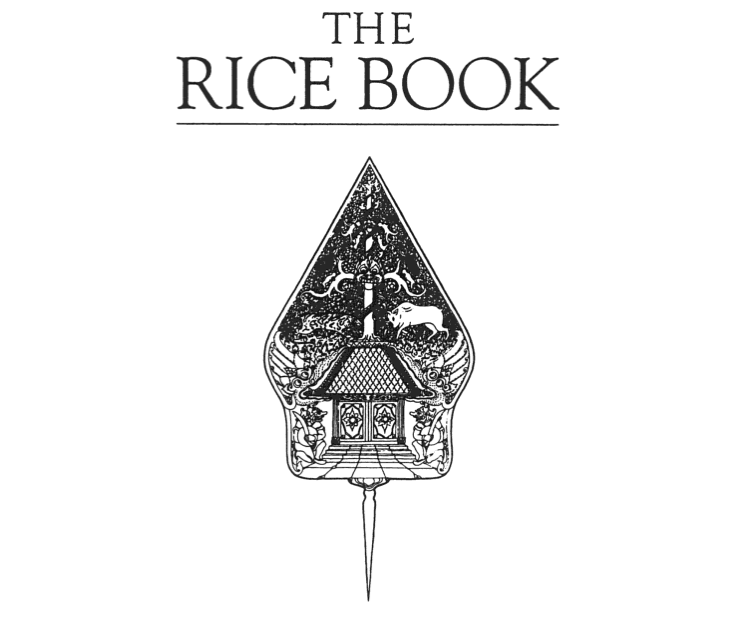 The opening pages of Sri Owen's 'The Rice Book' (1993). Illustration by Soun Vannithone.