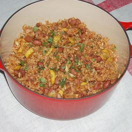 Pueblo Bean and Rice Casserole