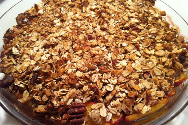 Vegan Nutty Peach Crisp