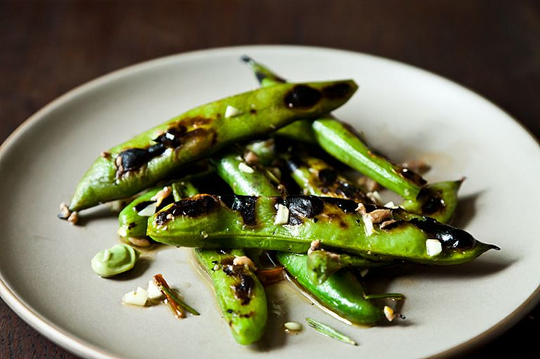 Grilled Favas from Food52