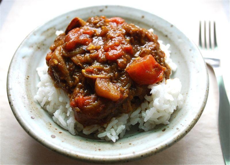 Eggplant & Tomato Stew With Pomegranate Molasses