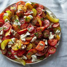 Tomato, Nectarine & Mozzarella Salad