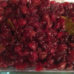 Bay Scented Cranberry Sauce