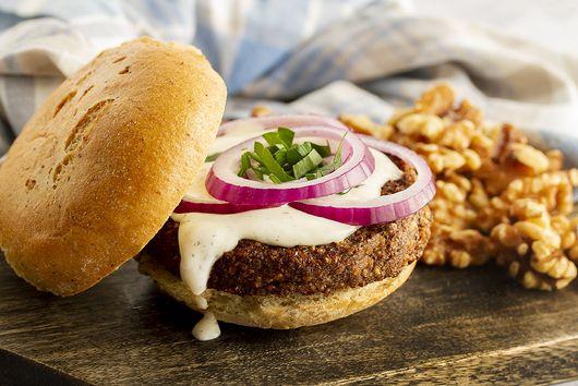 Gluten-Free Walnut & Portobello Mushroom Vegan Burgers