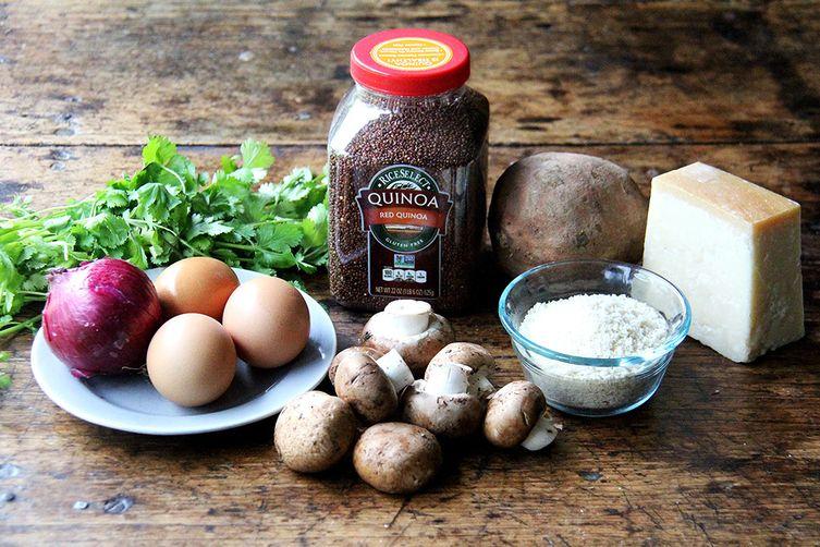 Sweet Potato & Mushroom Quinoa Burgers