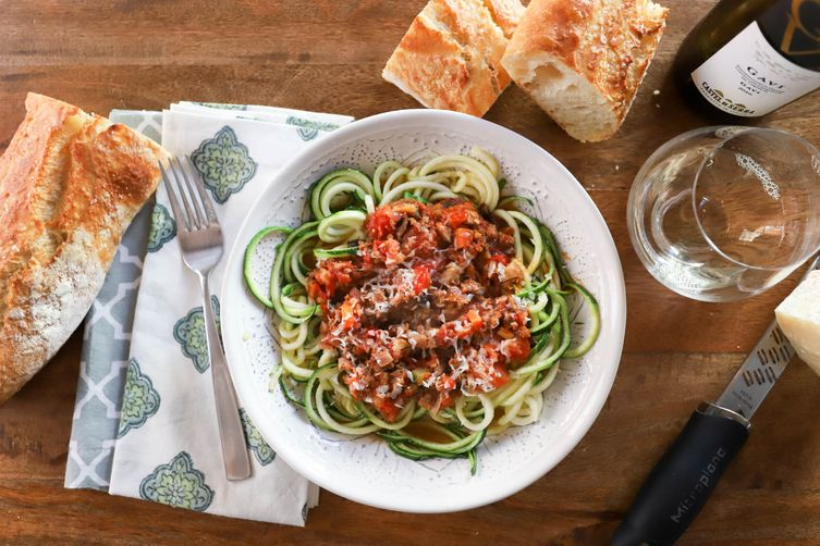 Sausage Ragout with Zoodles