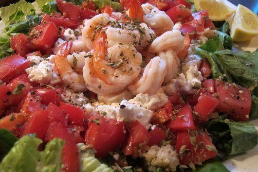Shrimp-Quinoa Salad with Feta and Tomatoes