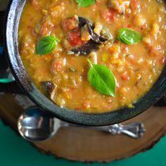 Roasted Summer Vegetable Soup