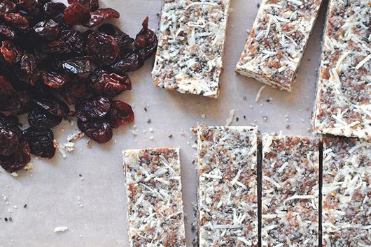 No Bake Coconut Cherry Chia Bars