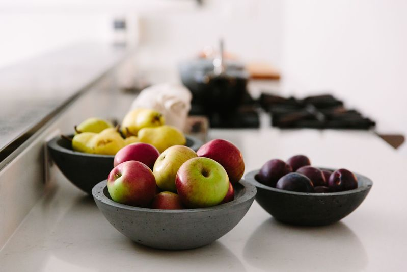 A family of nested bowls house a bounty of ready-to-snack fruit.