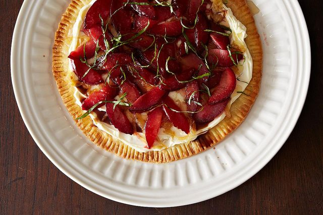 Savory Plum Tart with Herbs on Food52
