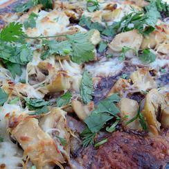 Chicken Raspberry Chipotle Pizza