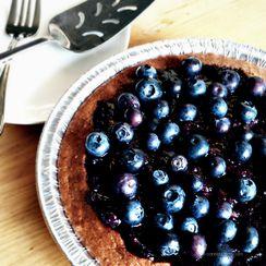 Vegan Blueberry 'Pit' Pie